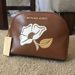 NWT Michael Kors Leather Travel Bag